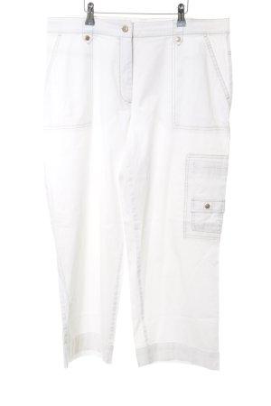 Gerry Weber Pantalón tobillero blanco-marrón claro Estilo años 90
