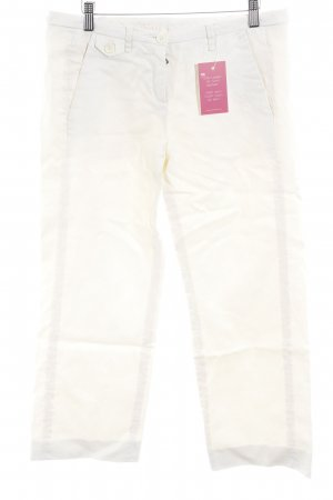 Gerry Weber 7/8 Length Trousers natural white weave pattern casual look