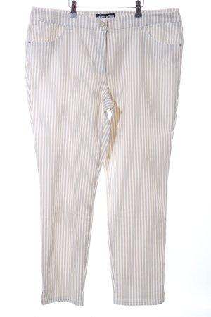Gerry Weber 7/8 Jeans wollweiß-braun Streifenmuster Casual-Look