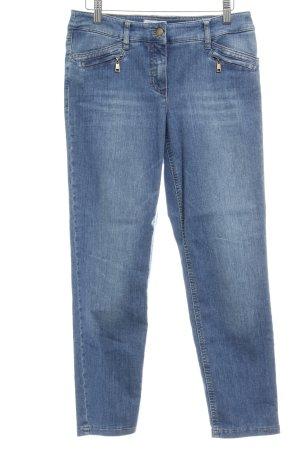 Gerry Weber 7/8 Jeans blau Washed-Optik