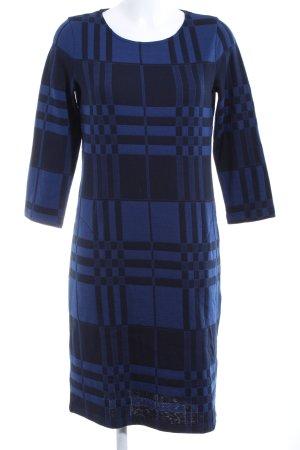 Gerry Weber A-Linien Kleid blau-schwarz grafisches Muster Elegant