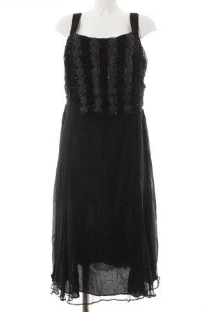 Gerry Weber Abendkleid schwarz-anthrazit Streifenmuster Elegant