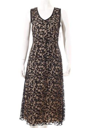 Gerry Weber Abendkleid schwarz-camel florales Muster Elegant