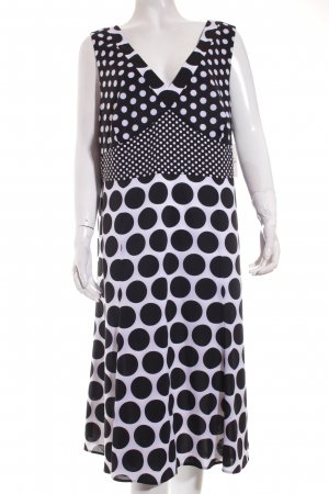 Gerry Weber Abendkleid schwarz-weiß Punktemuster Casual-Look