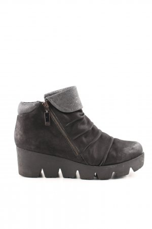 Gerry Weber Ankle Boots schwarz Animalmuster Casual-Look