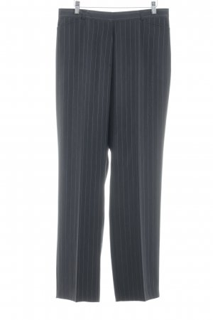 Gerry Weber Pantalone da abito antracite-bianco gessato stile professionale