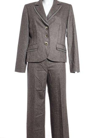 Gerry Weber Trouser Suit grey brown-dark brown flecked casual look