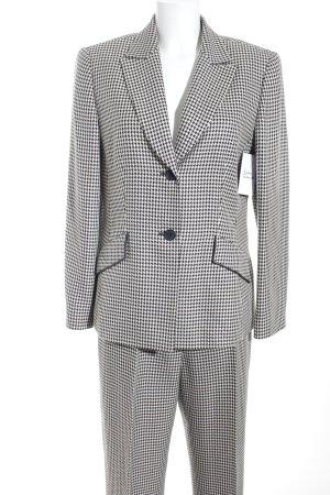 Gerry Weber Anzughose weiß-schwarz abstraktes Muster Business-Look
