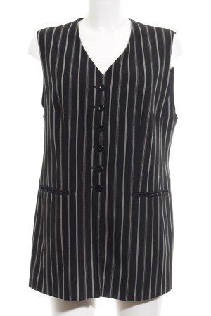 Gerry Weber Waistcoat black striped pattern business style