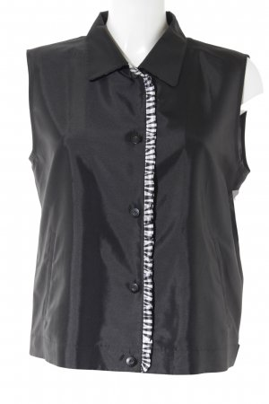 Gerry Weber Waistcoat black-white check pattern business style