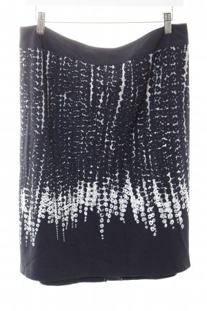 Gerry Weber Asymmetrische rok wit-donkerblauw abstract patroon