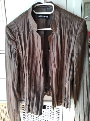 Gerry Weber Leather Blazer brown