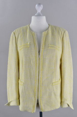 Gerry Weber Wool Blazer pale yellow-yellow