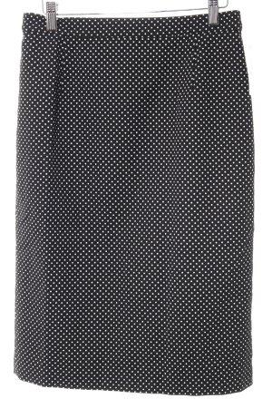 Gerry Weber Gonna a tubino nero-bianco motivo a pallini elegante