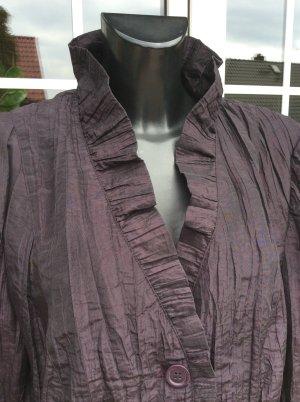 """Gerry Weber"" Bluse Jacke Blazer Kostümjacke Crashbluse / Crinkle XL"