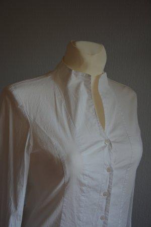 Gerry Weber Blusa de cuello alto blanco