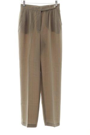 Gerry Weber Pantalone a pieghe beige-bianco sporco motivo a righe elegante