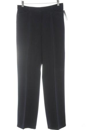 Gerry Weber Pantalone a pieghe blu scuro stile professionale