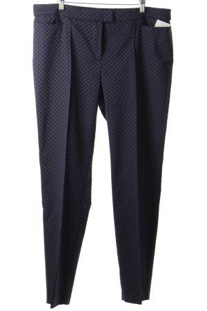 Gerry Weber Bundfaltenhose dunkelblau-schwarz abstraktes Muster schlichter Stil