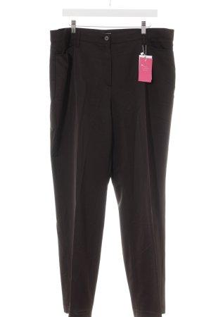 Gerry Weber Pantalon à pinces brun foncé style classique