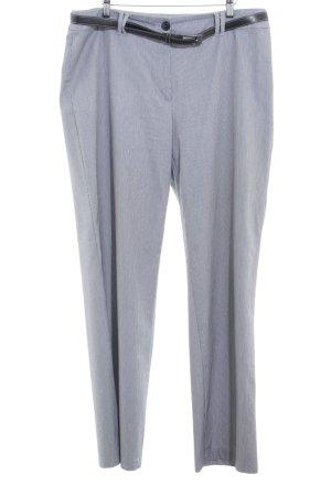 Gerry Weber Pantalon à pinces blanc-noir motif rayé style d'affaires