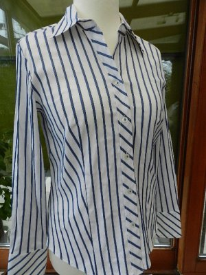 Gerry Weber  Business Bluse - gestreift dark blue - Gr.38/40 - tailliert -  NEU
