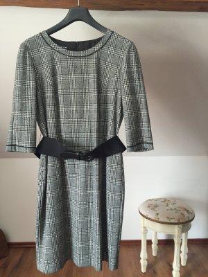 Gerry Weber Business Kleid 42 Alltagskleid grau weiß schwarz L