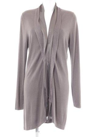 Gerry Weber Cardigan marrone-grigio Motivo a maglia leggera stile casual