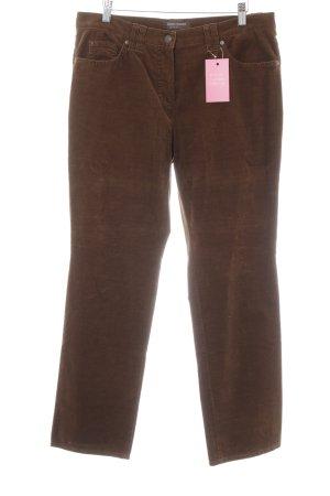 Gerry Weber Pantalon en velours côtelé brun style des années 70