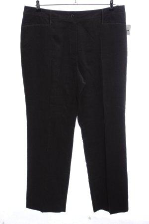 Gerry Weber Pantalón de pana negro estilo «business»