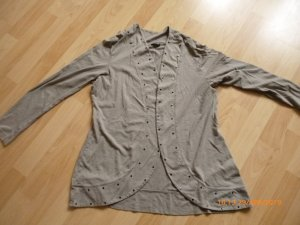 Gerry Weber Shirt Jacket grey brown mixture fibre