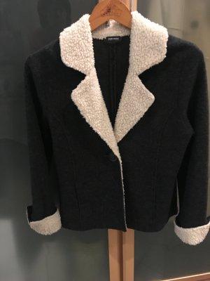 Gerry Weber Giacca di lana antracite-bianco sporco Lana vergine