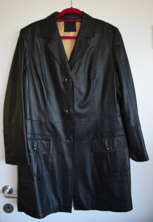 Gerry Weber Leather Coat dark brown leather