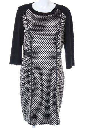 Gerry Weber Etuikleid schwarz-weiß grafisches Muster 60ies-Stil