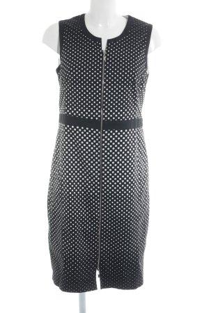 Gerry Weber Etuikleid schwarz-weiß Punktemuster 60ies-Stil