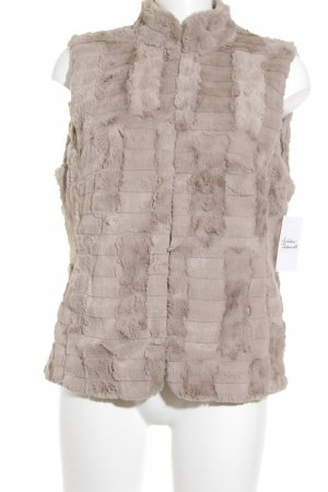 Gerry Weber Fur vest beige casual look