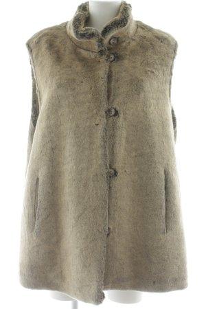 Gerry Weber Smanicato di pelliccia marrone-grigio look vintage