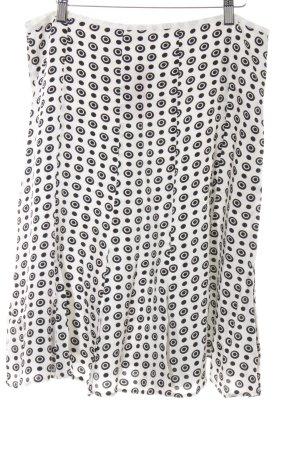 Gerry Weber Godetrok wit-zwart gestippeld patroon klassieke stijl