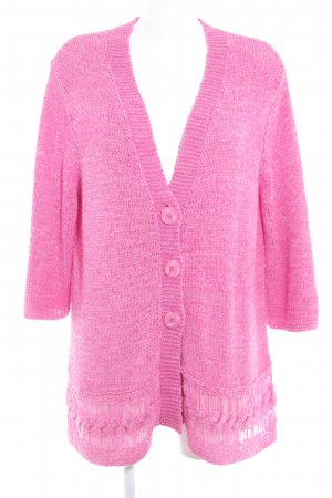 Gerry Weber Coarse Knitted Jacket pink casual look