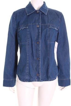 Gerry Weber Hemd-Bluse blau Jeans-Optik