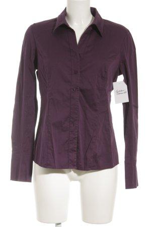 Gerry Weber Hemd-Bluse dunkelviolett schlichter Stil