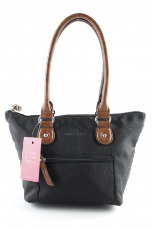 Gerry Weber Borsa con manico nero-marrone stile casual