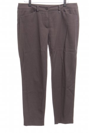 Gerry Weber High Waist Trousers brown weave pattern casual look