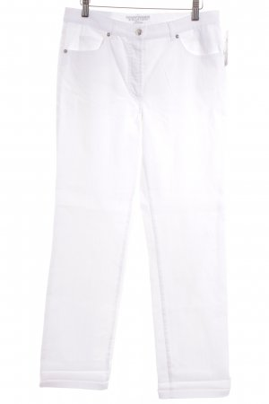 Gerry Weber High-Waist Hose weiß Casual-Look