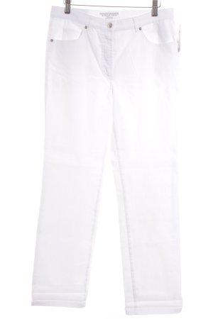 Gerry Weber Hoge taille broek wit casual uitstraling
