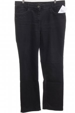 Gerry Weber High Waist Jeans dunkelgrau Street-Fashion-Look