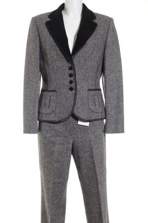 Gerry Weber Tailleur-pantalon noir-blanc moucheté style d'affaires
