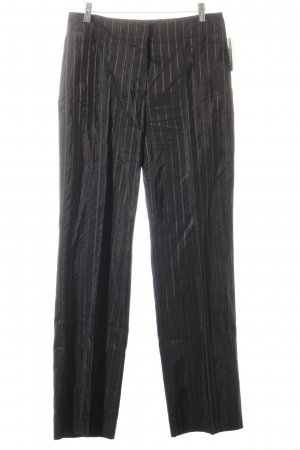 Gerry Weber Low-Rise Trousers black pinstripe business style
