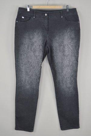 Gerry Weber Jeans mit Waschung und Aufdruck schwarz Größe XL