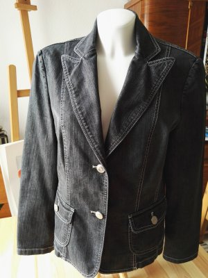 Gerry Weber Denim Blazer black-grey cotton